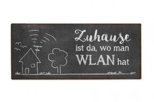 Magnet für Dich Zuhause ist da, wo man WLAN hat | Vintage Magnet | Geschenk für Dich