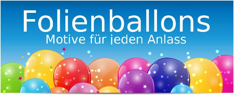 Folienballons zum füllen mit Luft oder Helium / Ballongas - spitzen Qualität