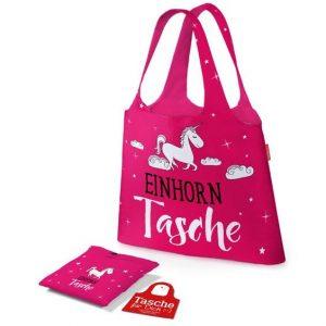 Tasche für Dich Einhorntasche ist ideal für Einkäufe / Shoppingtour. Zusammengefaltet schnell verstaut & beim Shopping ein echter Hingucker | LaVida