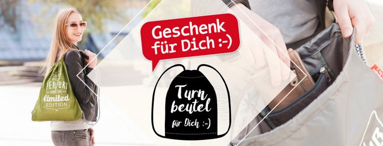 La Vida Turnbeutel für Dich :-). Auch verwendbar als Rucksack, Sporttasche, Sportbeutel Gymbag oder einfach nur als Beutel mit Innentasche.